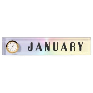 Schimmer-Nummernschild-Uhr Januars Amelia durch