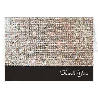 Schimmernde Paillette danken Ihnen Mitteilungskarte