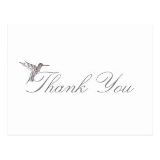 Schimmernder Kolibri danken Ihnen weiße Postkarte