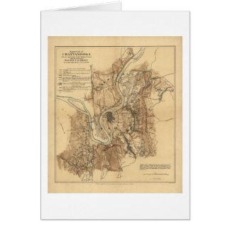 Schlachtfeld von Chattanooga Karte 23. bis 25.