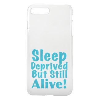 Schlaf beraubt aber noch lebendig im Blau iPhone 8 Plus/7 Plus Hülle