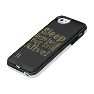 Schlaf beraubt aber noch lebendig im Gelb iPhone SE/5/5s Batterie Hülle