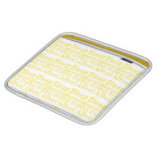 Schlaf beraubt aber noch lebendig im Gelb Sleeve Für iPads