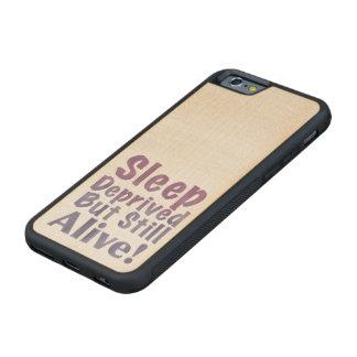 Schlaf beraubt aber noch lebendig in den bumper iPhone 6 hülle ahorn