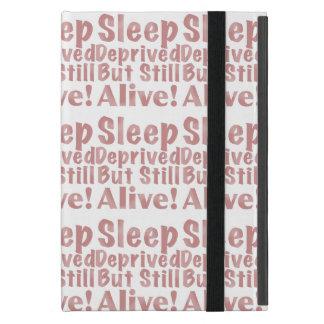 Schlaf beraubt aber noch lebendig in der staubigen etui fürs iPad mini