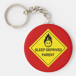 Schlaf beraubtes Elternteil Keychain Schlüsselanhänger