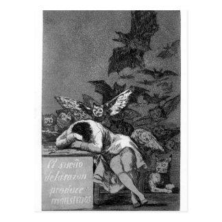 Schlaf Francisco Goya- des Grundes produziert Postkarte