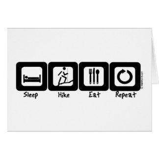 Schlaf-Wanderung essen Wiederholung Grußkarte
