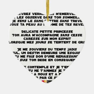SCHLAFEN Sie - Gedicht - Francois Ville Keramik Herz-Ornament