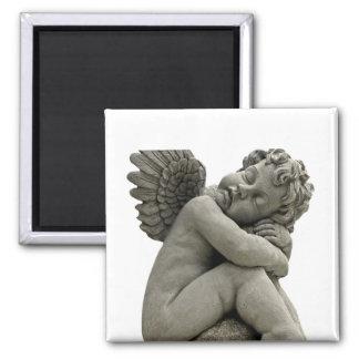 Schlafenengel-Engels-Skulptur-Magnet Quadratischer Magnet