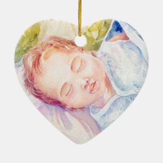 Schlafenengel Keramik Ornament