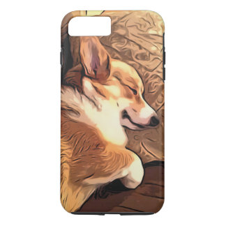 Schlafenpembroke-WaliserCorgihund iPhone 8 Plus/7 Plus Hülle