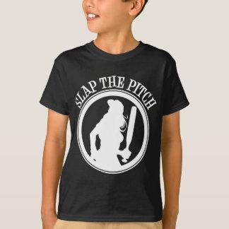 Schlagen Sie die Neigung, weiß T-Shirt
