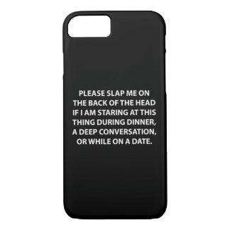 Schlagen Sie mich bitte auf der Rückseite. Fall iPhone 7 Hülle