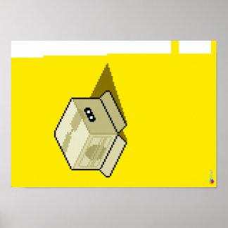 Schlange im Kasten (Mattplakat) Poster