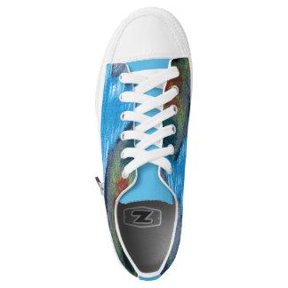 Schlängelnde Fluss-Damen-Turnschuhe Niedrig-geschnittene Sneaker