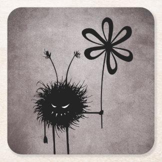 Schlechte Blumen-Wanze Vintag Rechteckiger Pappuntersetzer