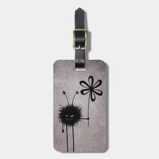 Schlechte Blumen-Wanzen-Vintages personalisiertes Gepäckanhänger
