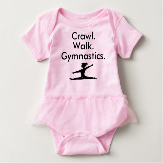 Schleichen-Weg-Gymnastikgymnast-Baby-Bodysuit Baby Strampler