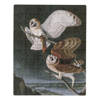 Schleiereulen, die Vögel von Amerika John James Puzzle