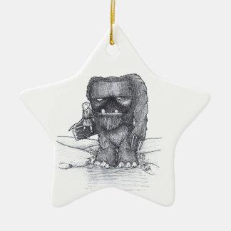 Schleppangel- und Begleiterzeichnen Keramik Stern-Ornament