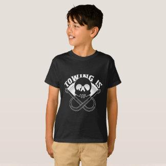 Schleppen ist der krasse T - Shirt des Kindes