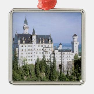 Schloss Europas, Deutschland, Neuschwanstein, Quadratisches Silberfarbenes Ornament