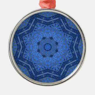 Schloss-Hügel-Kaleidoskop Rundes Silberfarbenes Ornament