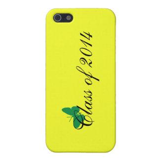 Schloss Klassen-Fall-- grünen und gelben iPhone 5 Etui