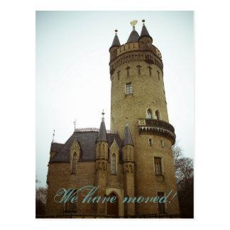 Schloss • Neue Zuhause-Postkarte Postkarte