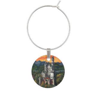 Schloss Schloss Neuschwanstein Weinglas Anhänger