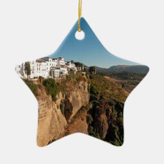Schlucht EL Tajo, Ronda, Spanien Keramik Stern-Ornament
