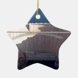 Schlucht-Schlucht-Verdammung und Brücke, Arizona Keramik Stern-Ornament