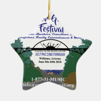 Schlucht-Zugangs-Festival Promoprodukte 2018 Keramik Ornament