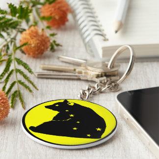 Schlüsselbund wagt den gelben Major Schlüsselanhänger
