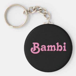 Schlüsselkette Bambi Standard Runder Schlüsselanhänger
