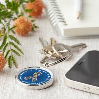 Schlüsselring Blauer Premium Conscientização des Schlüsselanhänger