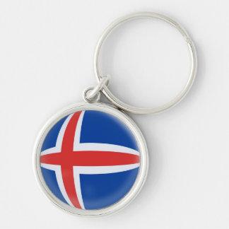 Schlüsselring-Island-Isländerflagge Silberfarbener Runder Schlüsselanhänger
