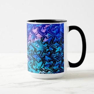 Schmelzabstraktes Schwarzes 15 Unze-Wecker-Tasse Tasse