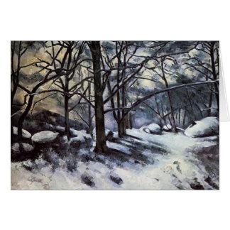 Schmelzender Schnee Pauls Cezanne-. Fontainbleau Karte