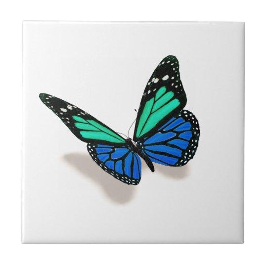 schmetterling 3d kleine quadratische fliese zazzle. Black Bedroom Furniture Sets. Home Design Ideas
