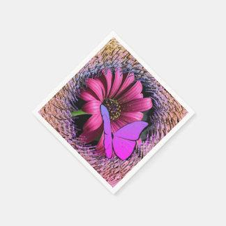 Schmetterling auf Gänseblümchen Papierservietten