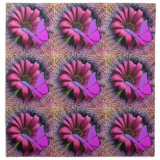 Schmetterling auf Gänseblümchen Serviette