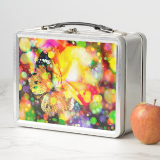 Schmetterling Metall Lunch Box
