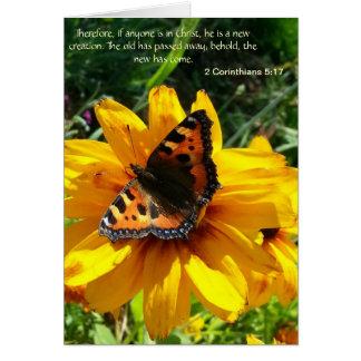 Schmetterling notecard mit biblischem Zitat Karte