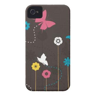Schmetterling und ein flower3 iPhone 4 Case-Mate hülle
