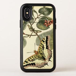 Schmetterling und Libelle mit roten Blumen OtterBox Symmetry iPhone X Hülle