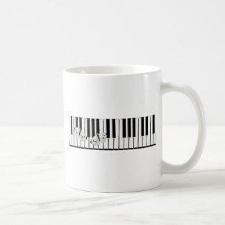 Schmetterlinge auf Tastatur Thema Kaffeetasse