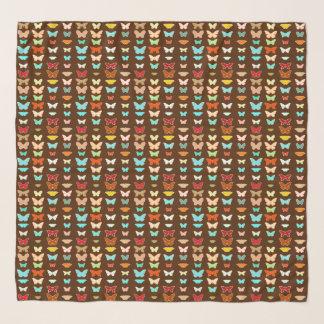 Schmetterlinge, Brown, Türkis und Koralle Schal