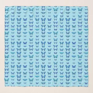 Schmetterlinge, Kobalt-Blau, hellblauer Schal